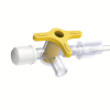 lower GI catheter with 3-way tap