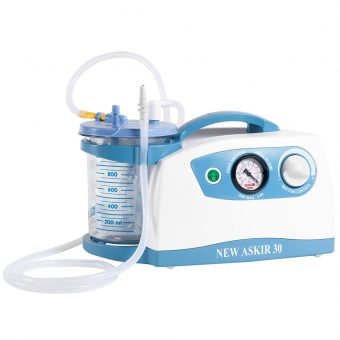portable suction machine with disposable liners